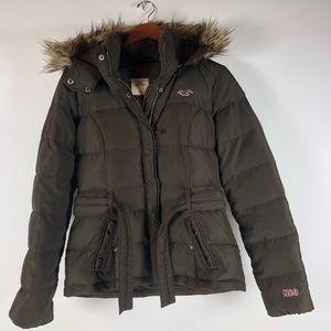 HOLLISTER womens Parka Jacket DOWN FUR medium